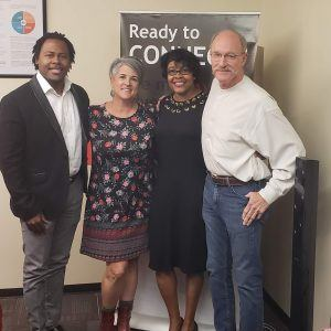 Co-Authors and Speakers E Marie Hall and Quentin McCain with Wyatt Earp of On The Spot Productions
