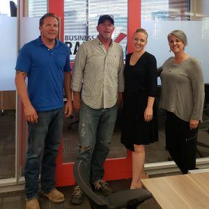Mod Haus Builders Partners Daniel Barnes and Craig Smith with Jeanine Dougherty of j nine designs