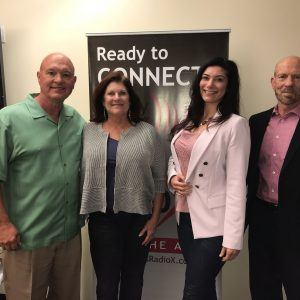 RHINO NATION Networking Phoenix Founder Gelie Akhenblit with My Home Group Associate Broker Patrick Davis and Sigrist Cheek Potter and Huyser Managing Partner Howell Cheek