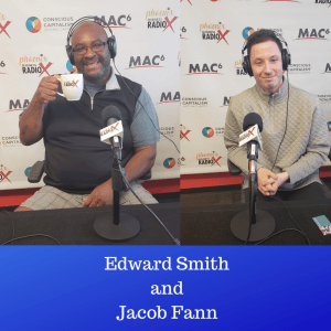 BUSINESS SCORECARD Edward Smith with EZ Sports Talk and Jacob Fann with Fanntastic Media