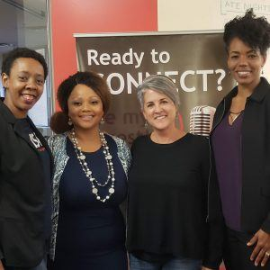 Joy Bretz Founder of nJOYBnFIT and Brenda Cunningham CEO of Push Career Management with Guest Co-host Isha Cogborn CEO of Epiphany Institute