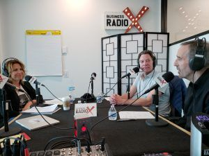 Mike Wittenstein with StoryMiners and Alan Jones with HiFi Buys