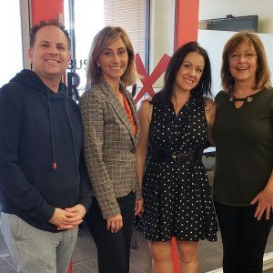 CULTURE CRUSH RX Sheila Keitel and DeeAnn Palin of OnPoint Business Solutions with Matt Altman of Sportiqe