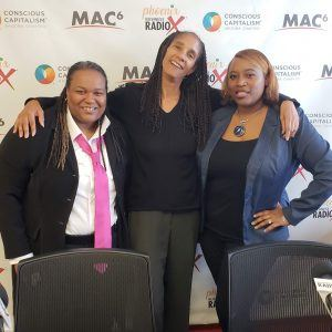 Alejandre Richards of Matrix Media Consulting Group with Karen Loomis of No Moss Brands and Lisa Guice of Lisa Guice Global-Vision