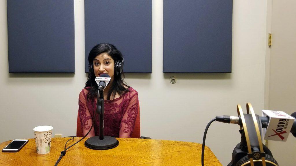 Dala Al-Fuwaires with FJI visits the Valley Business RadioX studio in Phoenix, Arizona