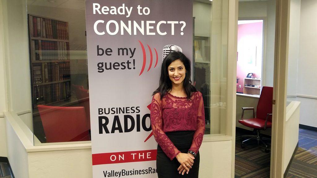 Dala Al-Fuwaires with FJI on the radio at Valley Business RadioX in Phoenix, Arizona