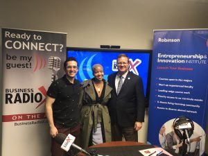 Richard Phillips with J. Mack Robinson College of Business at GSU, Luis E. Ferrer-Labarca with BitCraft and Jeanine McDonald with Suzi Soma Chokers