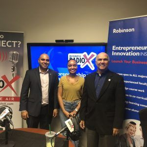 Samir Patel Instructor of Entrepreneurship at GSU and Owner at Thrive Logistics, Dr. Paul Lopez with TiE Atlanta and Sigourney Chavez with Zen Pod