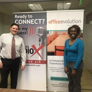 Alex Roach with IBERIABANK and Nicole Mitchell with HR Biz