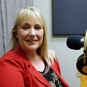 Cindy Webb with Southwest Behavioral & Health Services in the studio at Valley Business RadioX in Phoenix, AZ
