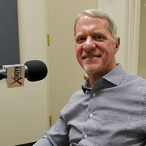 Joe Cunningham with Sunny Energy in the studio at Valley Business RadioX in Phoenix, AZ