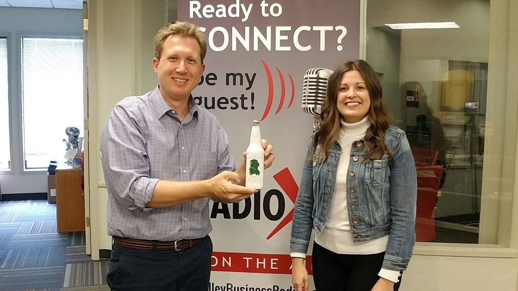 Dr. Adrian McIntyre of Valley Business RadioX with Megan Greenwood of Greenwood Brewing