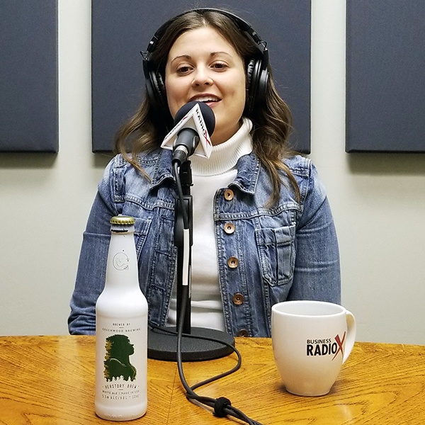Megan Greenwood with Greenwood Brewing in the studio at Valley Business RadioX in Phoenix, AZ
