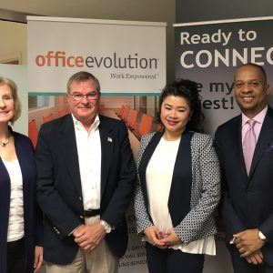 Office Evolution Radio: Ed and Clare Stefan with Active Financial Group, Dallas Smith with T. Dallas Smith and Company and Nirinya Kummantool with US Health Advisors