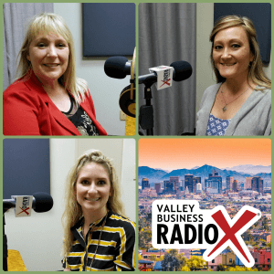 Cindy Webb, Lynda Riford, and Nicole Hein with Southwest Behavioral & Health Services on Valley Business RadioX in Phoenix, AZ