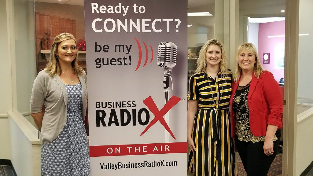 Lynda Riford, Nicole Hein, and Cindy Webb with Southwest Behavioral & Health Services visit Valley Business RadioX in Phoenix, AZ