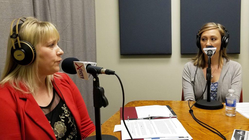 Cindy Webb and Lynda Riford with Southwest Behavioral & Health Services in the studio at Valley Business RadioX in Phoenix, AZ