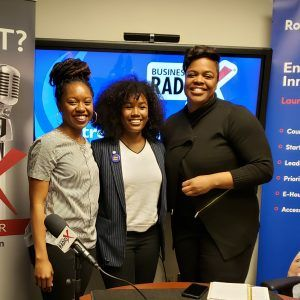 Baiyina Jihad with Beyond the Classroom, Jamine Moton with Skylar Security and GSU Peer Mentor Kiara Henry