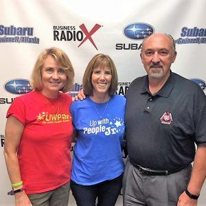 Patti Stafford and Kicki Schade with Up With People Jr.
