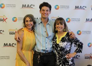 Nathan Knight with BAMBOX Produce Nrysh Owner Angela Carter and KLM Consulting CEO Kelly Lorenzen