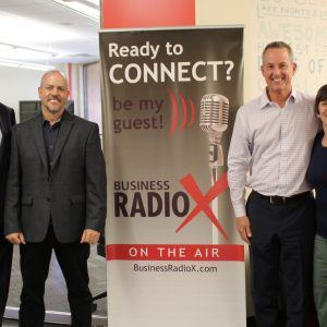 Direct2MD CEO Paul Flatley and Chief Sales Officer Scott Mara with Loftus Financial CEO Mike Loftus and Guest Co-Host Barb Regis