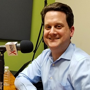 Ben Graff with Quarles & Brady in the studio at Valley Business RadioX in Phoenix, Arizona