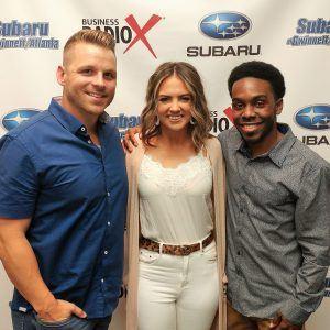 Derrick Case & Liz Webber with Dress Up and Tyshon Williams with TGI Fridays