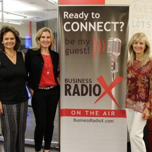 Lisa Hullinger with Campus Advisers Jessica Corral with Headfarmer and Special Guest Co-Host Stephanie Angelo
