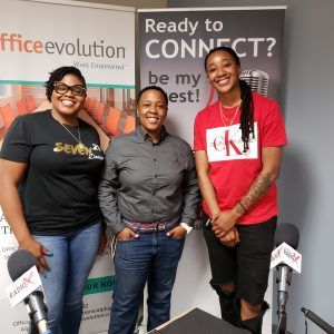 Office Evolution Radio: Troy McDonald with Retire Rich Financial Group, Lesley Henderson with Seven21 Designs and Annette Murray with Sweeter than Handy