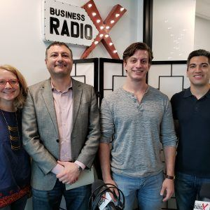 Connor Kimball with AVOXI, Baha Zeidan with Azalea Health and Robin Gregg with RoadSync