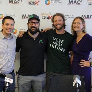 AZ GOOD BUSINESS Jeremiah Rosenthal with Green Bin Dorie Morales with Green Living Magazine and Cameron Jarman with Keep Nature Wild