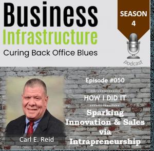 Episode 50: Sparking Innovation & Sales via Intrapreneurship with Carl E. Reid