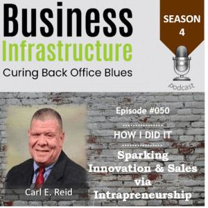 Episode 50: Sparking Innovation & Sales via Intrapreneurship with Carl E. Reid