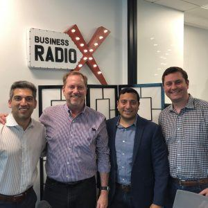 Jon Bradway with CapTech, Chris Duncan with Decisely and Rupen Patel with Healthgrades