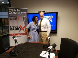 Telisha Jackson with Small Business Development Center and Jeff Patterson with Small Business Administration
