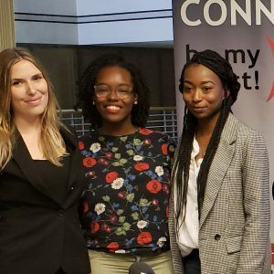 Grace Hayden with Atlanta Planning Group, Crystal Chisholm with Tech Talent South and Nicole Toole with EcoDrop Technologies