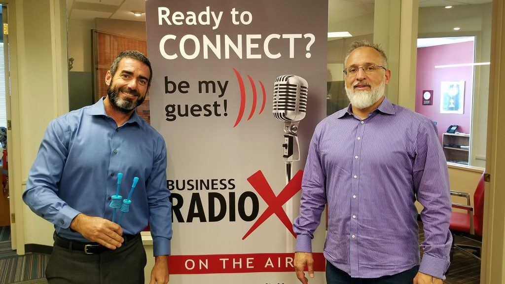 Joe Haldiman with Fit N' Seal and Linc Miller with Sandler Training visit the Valley Business RadioX studio in Phoenix, Arizona