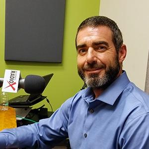 Joe Haldiman with Fit N' Seal in the studio at Valley Business RadioX in Phoenix, Arizona