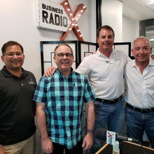 Mike Roush and David Judd with Inxeption, Atul Agarwal with Althea Brands and Todd McAllister with McAllister Retail