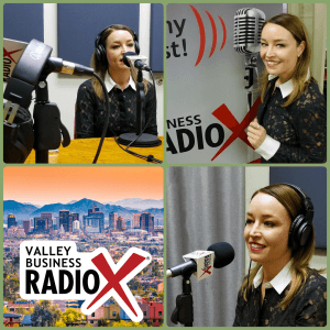 Tyler Butler with 11Eleven Consulting broadcasting live from the Valley Business RadioX studio in Phoenix, Arizona