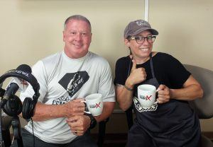 Rick Parks with Rick's Personal Training and Joy Allgood with 2 Dog Restaurant