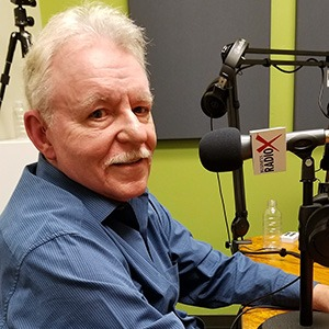 Barney Davey in the studio at Valley Business RadioX in Phoenix, Arizona