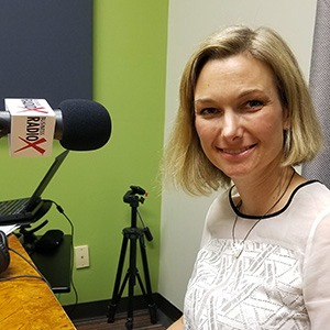 Camilla Nørgaard Jensen with InterPlay in the studio at Valley Business RadioX in Phoenix, Arizona
