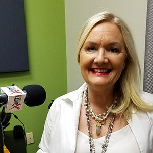 Carole Baker with Cherry Pie Social and Bathrobe Nation in the studio at Valley Business RadioX in Phoenix, Arizona