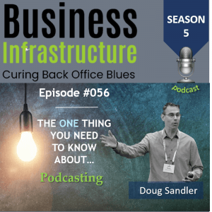 Episode 56: The One Thing You Need to Know About Podcasting – Doug Sandler