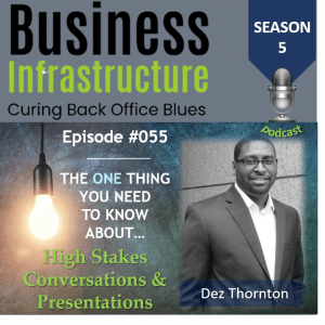 Episode 55: The One Thing You Need to Know About High Stakes Conversations – Dez Thornton