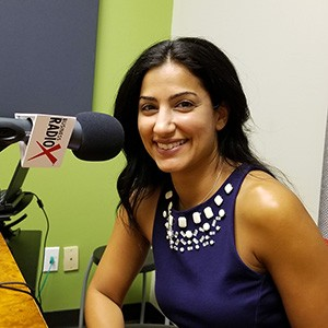 Dala Al-Fuwaires with FJI in the studio at Valley Business RadioX in Phoenix, Arizona