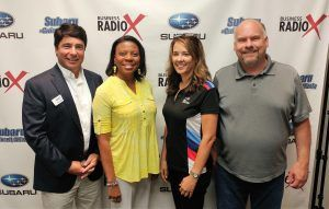 Julie Soltis with BMW Performance Driving School and Nichelle Jones with Jones Health and Benefits