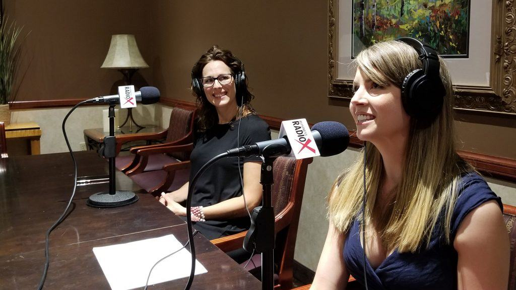 Jen McIntyre and Amelia Warren with Epicure speaking on the Valley Business Radio show in Phoenix, Arizona