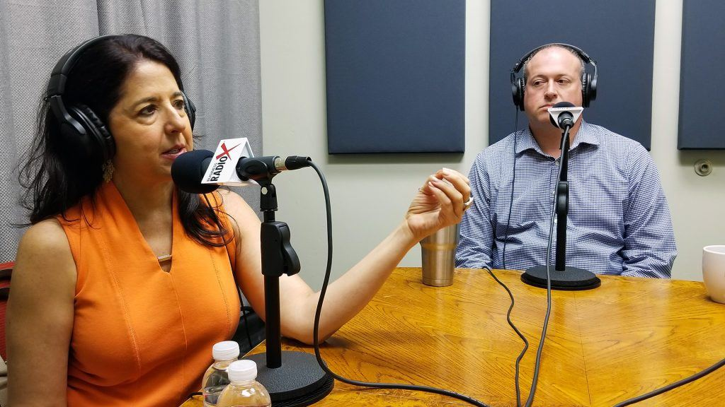 Karen Jacobson and Jeffrey Lynch speaking on Valley Business RadioX in Phoenix, Arizona